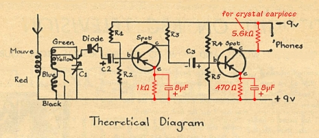 Circuit diagram from the Focus leaflet, with the changes I made.